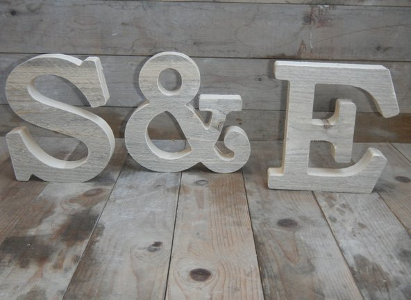 trouwdecoratie apparte letters